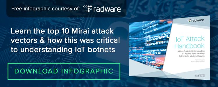Radware Mirai Infographic Top 10 IoT Botnet