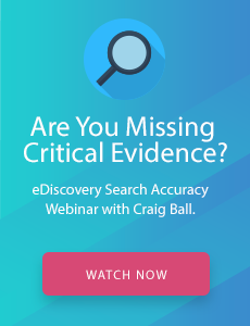 eDiscovery Search Accuracy Webinar