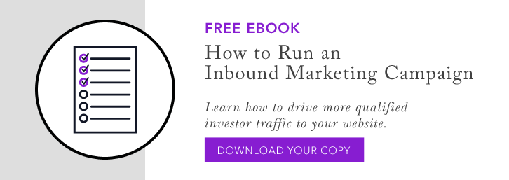 How to run an inbound marketing campaign for financial advisor websites
