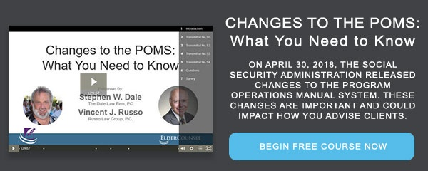 Recorded Course: Changes to the POMS: What You Need to Know