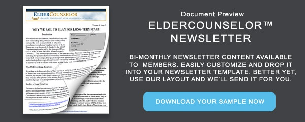 Document Preview: ElderCounselor Newsletter Sample