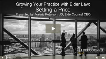 setting a price to grow your elder law practice