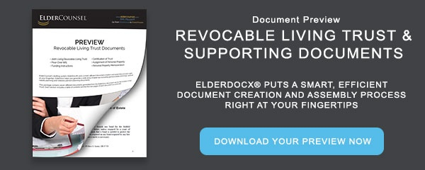 Document Preview: Revocable Living Trust & Supporting Documents