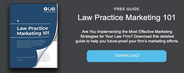 Law Practice Marketing 101 guide