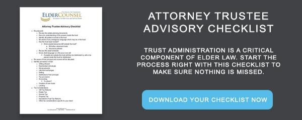 Whitepaper: Attorney Trustee Advisory Checklist