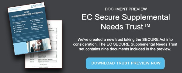 Document Preview: EC Secure Supplemental Needs Trust