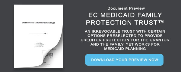 Document Preview: Annotated Document Sample (Medicaid Family Protection Trust)
