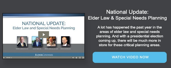 National Update: Elder Law and Special Needs Planning