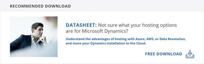 Datasheet: Choose your Dynamics hosting