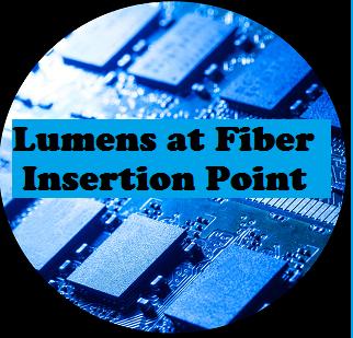 Lumens at Fiber Insertion Point