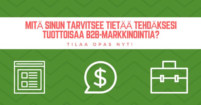 b2b yrityksen markkinointi
