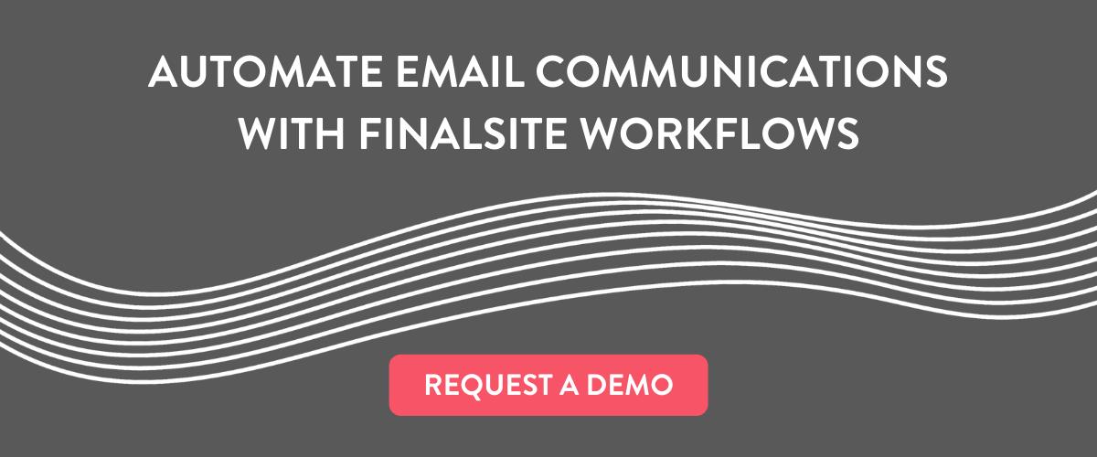 Finalsite Workflows Request a Demo
