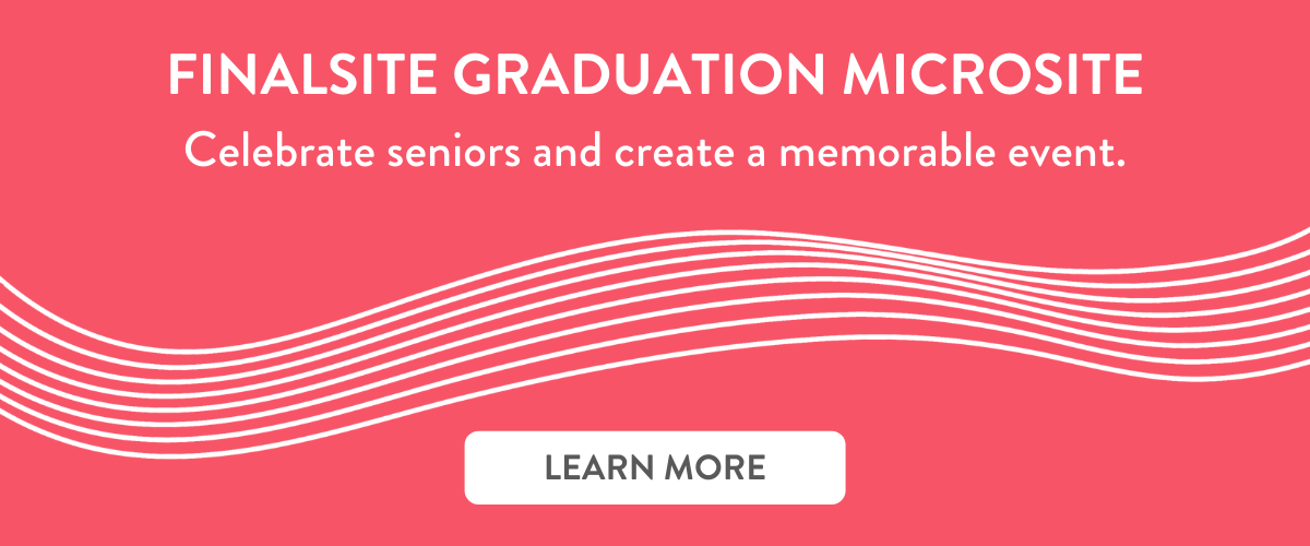 Learn how Finalsite can Celebrate seniors by adding a Graduation Microsite to your Digital Campus