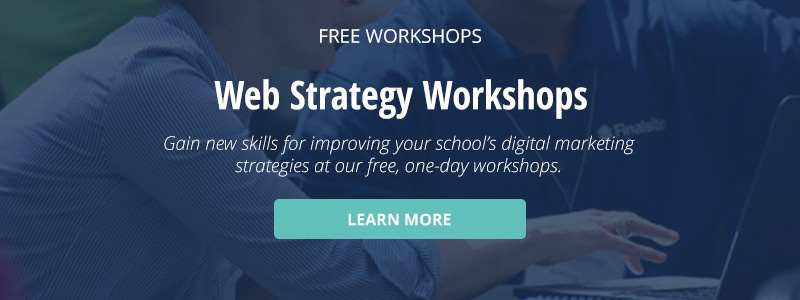 click here to learn about free web strategy workshops Finalsite offers