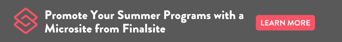 get a microsite to promote your school's summer programs
