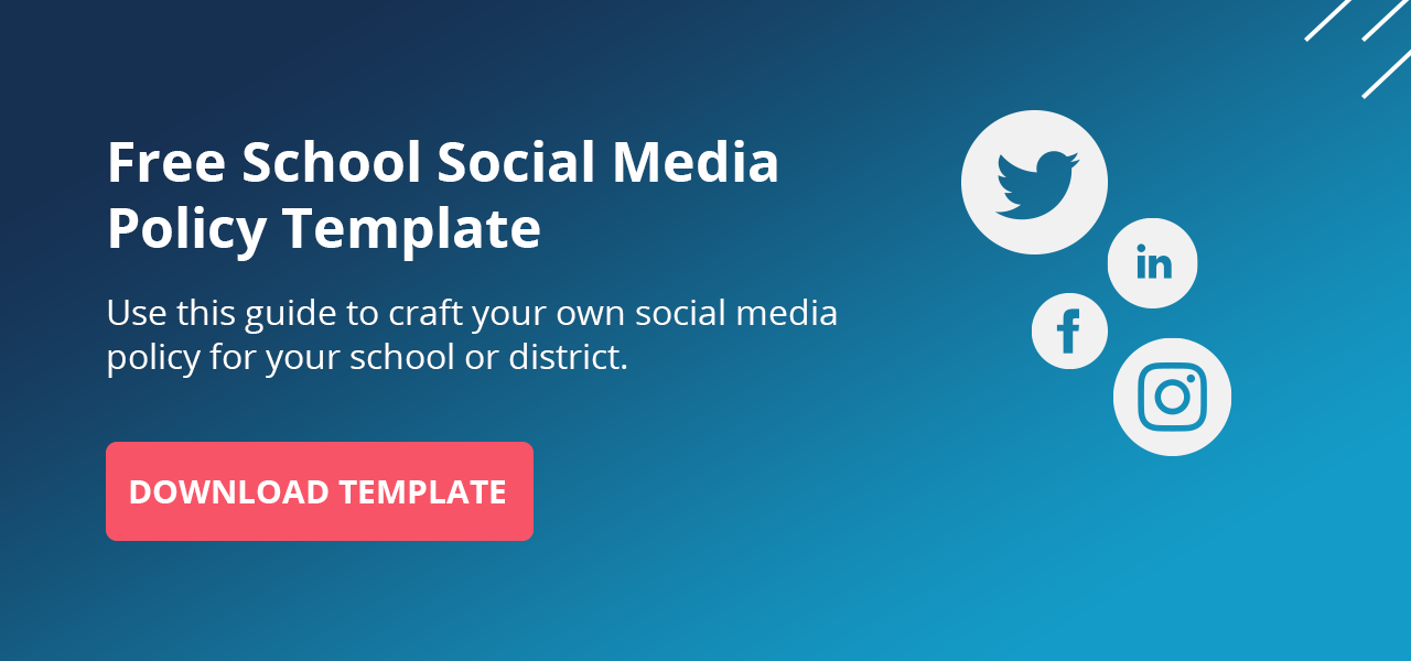 click here to download your free school social media policy template