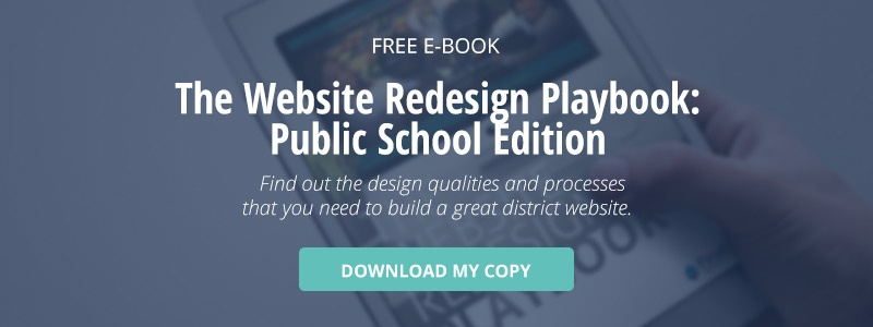 "click here to download a free ebook titled, ""The website redesign playbook: public school edition"""