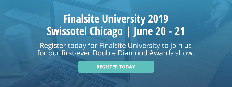 Register today for Finalsite University to attend the Double Diamond Awards show