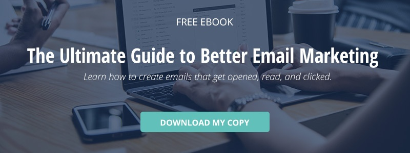 "click here to download a free ebook titled, ""the ultimate guide to better email marketing."""