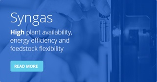 Syngas process - High plant availability, energy eficiency and feedstock flexibility