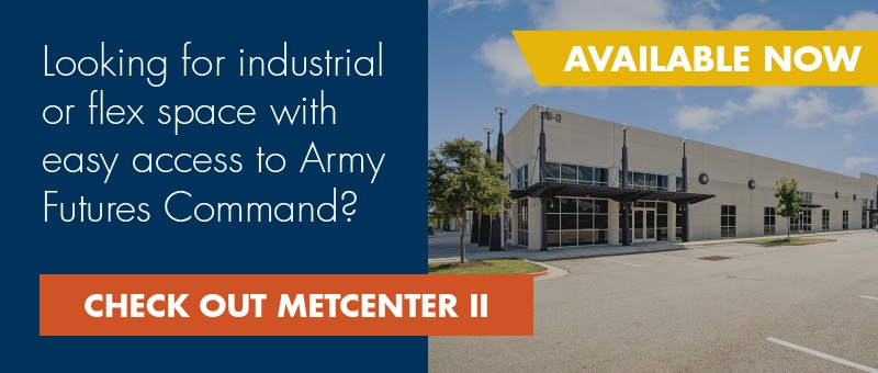 Looking for industrial or flex space near Army Futures Command? Check out MetCenter II.