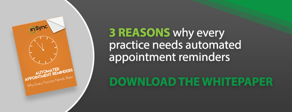 3 Reasons why every practice needs automated appointment reminders - download whitepaper