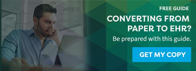 Are you considering converting from a paper-based system to EHR? Click here to download a free guide to help prepare yourself.