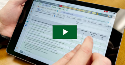 watch a video preview of the insync healthcare solutions ehr on a tablet