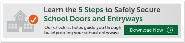 secure school door and entryway