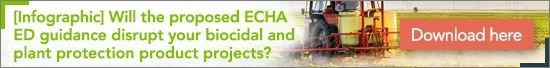 [Infographic] Will the proposed ECHA ED guidance disrupt your biocidal and plant protection product projects?