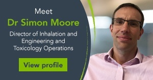 Meet Dr Simon Moore, Director of Inhalation Science and Engineering and Toxicology Operations