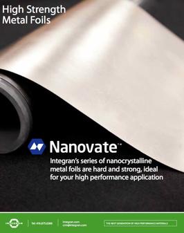 Nanovate High Strength nanocrystalline Metal Foil Brochure