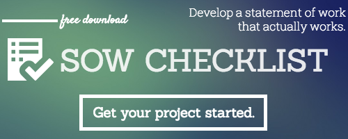 Statement of Work Checklist- Template to start a statement of work for your next project