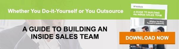 Building an inside sales team