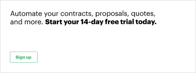 PandaDoc 14-day free trial