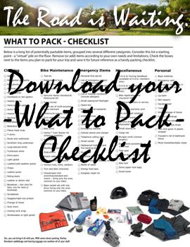 Harley road trip checklist