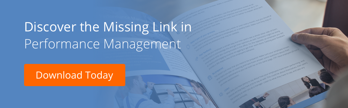 Missing Link in Performance Management Employee Experience CTA