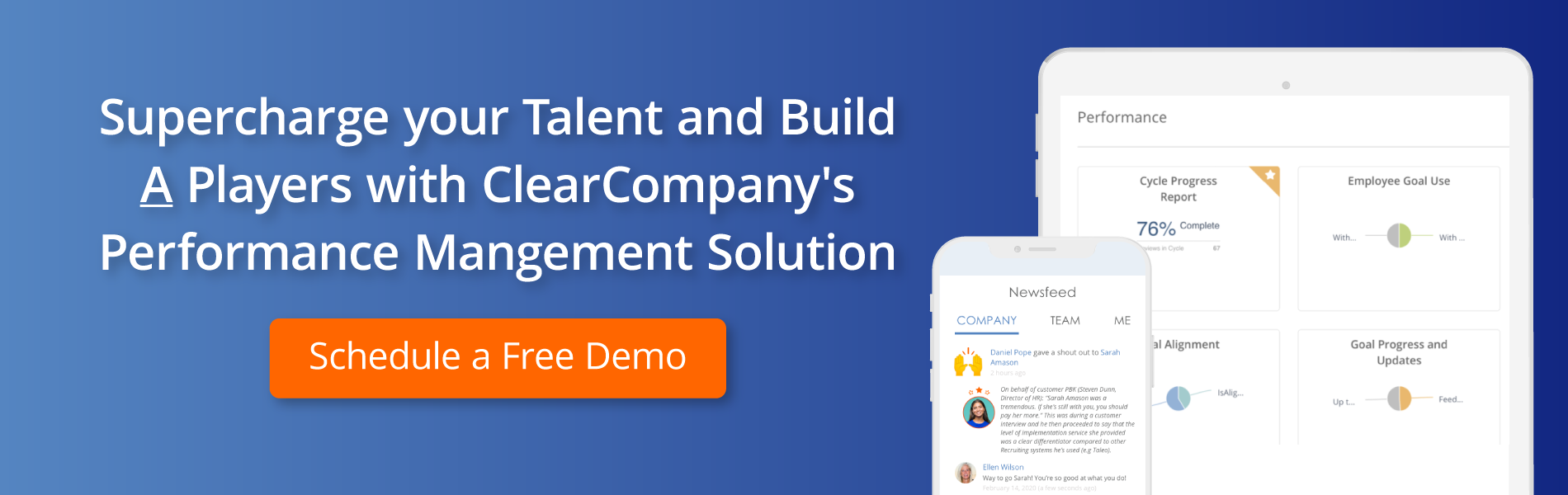 A Players with ClearCompany's Performance Management Solution