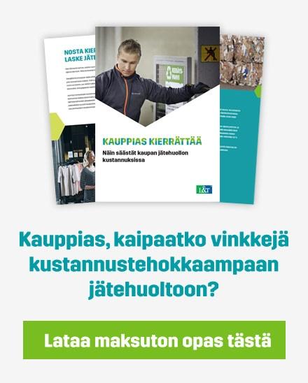 Lataa Kauppias kierrättää -opas!