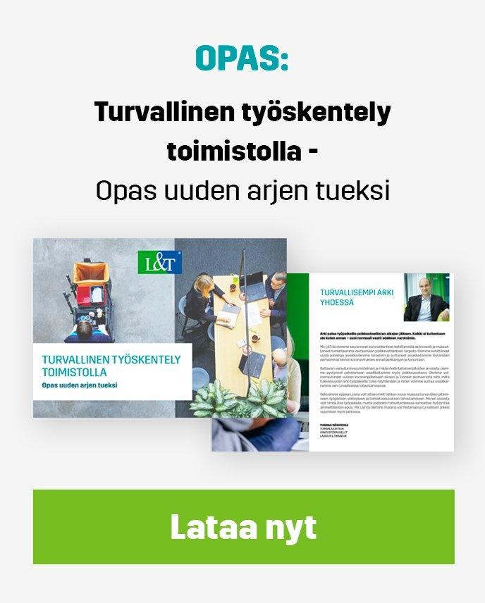 Lataa opas: Turvallinen työskentely toimistolla - opas uuden arjen tueksi.