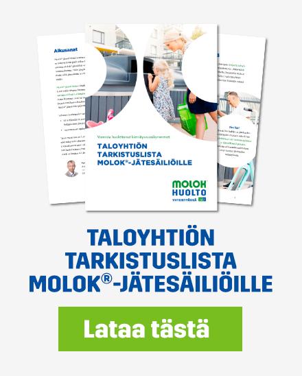 Lataa tarkistuslista: Taloyhtiön tarkistuslista Molok-jätesäiliöille.