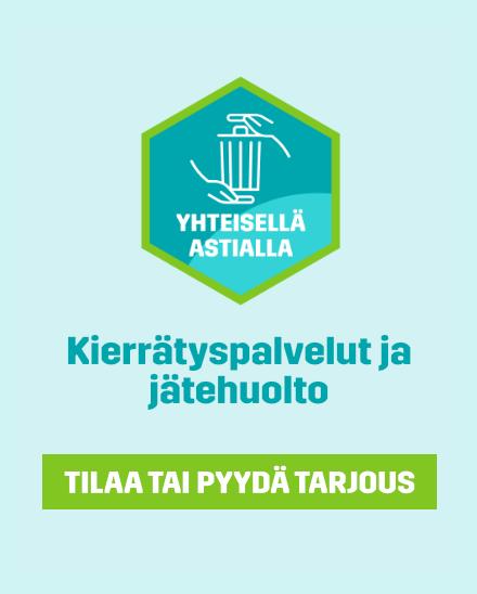 Tilaa tai pyydä tarjous: Kierrätyspalvelut ja jätehuolto - tilaa tai pyydä tarjous.
