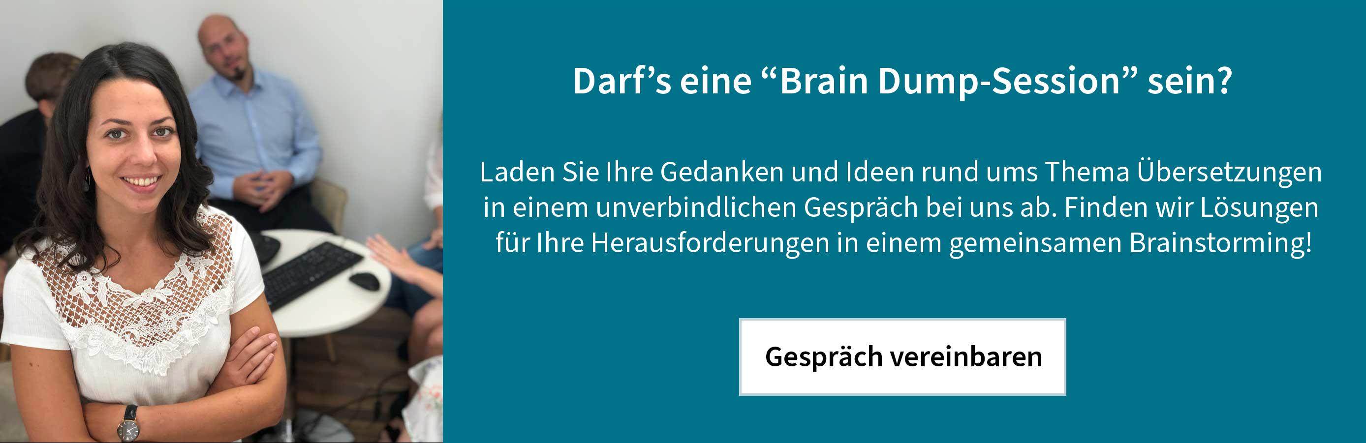 Du möchtest mit uns Brainstormen? Jetzt ein Gespräch vereinbaren