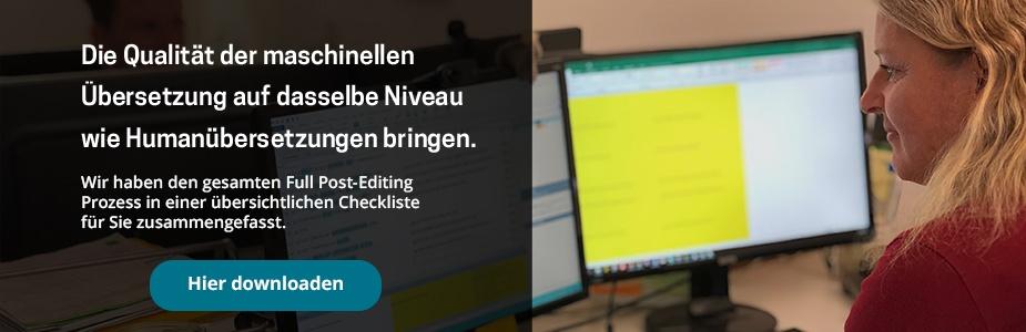 CTA Checkliste MTPE