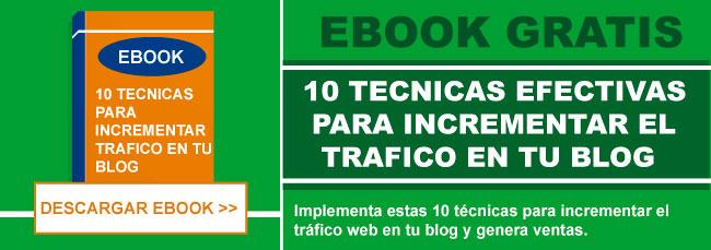 CTA 10 tecnicas web blog