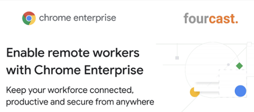 Remote workers with Chrome Enterprise benefits