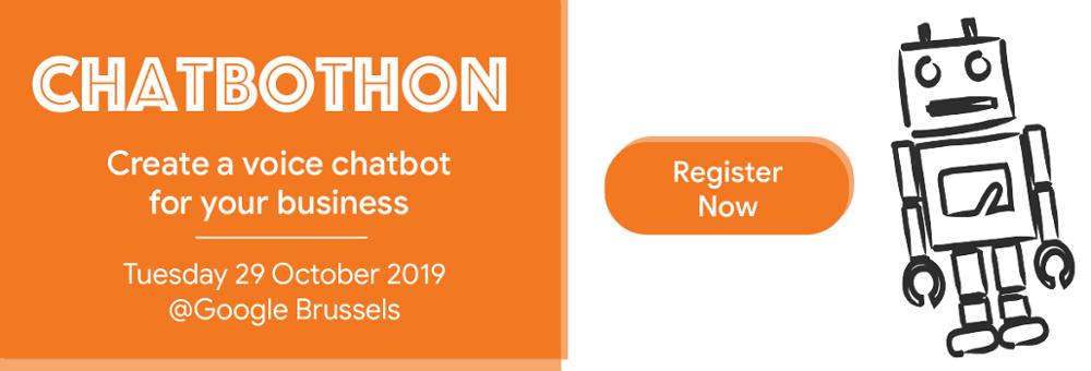 Chatbothon at Google Brussels Event