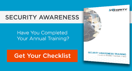 Complete your annual cybersecurity awareness training