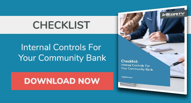 Checklist: Internal controls for your community bank PDF