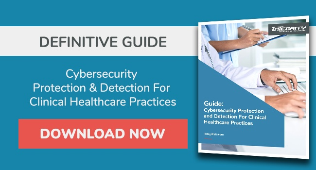 Cybersecurity protection and detection for clinical healthcare practices